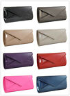 New Faux Patent Leather Party Dinner Ladie Evening Clutch bag Wedding Prom 09179