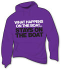 What Happens on the Boat Stays on the Boat Sailing Hoodie - Catamaran Dinghy
