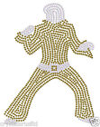 ELVIS PRESLEY POSE A DIAMANTE IRON-ON CRYSTAL GEM BLING TSHIRT TRANSFER PATCH