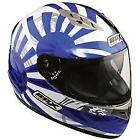 BOX FZ1 RISING SUN BLUE MOTORCYCLE HELMET + FREE UK DELIVERY- LARGE