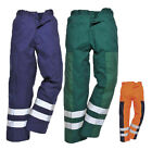 Hymac Ballistic Nylon Work Trousers Hi Vis Strips Safety Pants High Viz HYM944
