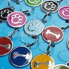 Stainless steel PET ID TAGS DOG CAT COLLAR CHARMS choose color