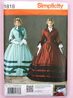 Simplicity 1818 Sewing Pattern Ladies Civil War Dress Gown Costume Misses