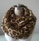 2016 Women Leopard Infinity Scarf Style Fashion Shawl Wrap Neckerchief Bandelet
