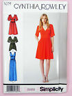 Simplicity 1801 Sewing Pattern Ladies Dress In Two Lengths - Cynthia Rowley
