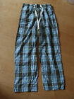 BODEN Men's Woven Cotton Pull Ons Long Pyjama Bottoms Small SR/SL Tartan PJs NEW