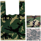 100 Pack - Camouflage Heavy Duty Plastic Party Shopping Bags