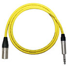 *Custom Length* Yellow VanDamme STARQUAD Balanced Silver Microphone Stereo Lead