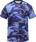 Camo T-Shirt Military Short Sleeve Tee, Army Camouflage Tactical Tshirt