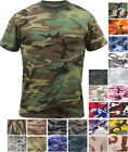 Camo T-Shirt Military Short Sleeve Tee, Army Camouflage Tactical Uniform Tshirt image