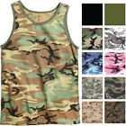Camo Tank Top Sleeveless Muscle Tee Camouflage Tactical Army Military A T-Shirt image