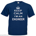 Keep Calm Engineer Adults Mens T Shirt 12 Colours Size S - 3XL