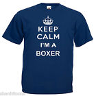 Keep Calm Boxer Boxing Adults Mens T Shirt 12 Colours Size S - 3XL