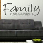 Family - Removable Wall Quote / Stylish Art Decor / Interior Wall Quote niq33