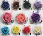 Girls baby flower hair bow clips brooch handmand 1pcs