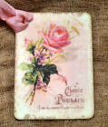 Hang Tags  FRENCH CHOCOLATE PINK ROSE TAGS or MAGNET  #280  Gift Tags