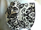 Black and White DAMASK Sunhat Bonnet sz nb,3,6,9,12,18 mo shower baby gift New