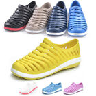 New Mens Womens Hollow Out Sandals Flats Slip On Beach Shoes Unisex Candy Color
