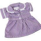 FRILLY LILY LILAC CHECKED SUMMER SCHOOL UNIFORM DRESS FOR DOLLS  LOTS OF SIZES !