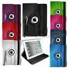 360 Rotating Black Leather Wallet Smart Flip Case Cover for Apple iPad Mini