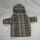 Designer Inspired Dark Plaid Fleece Dog Hoodie Sweater Tiny XS S L XL XXL