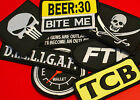 Biker Patches - EMBROIDERED - 1%er Outlaw S.O.A. SAMCRO