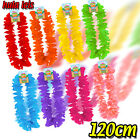 FANCY DRESS FLOWER LEIS HULA LEI MULTI COLOURED COSTUME NECKLACE PARTY ACCESSORY