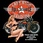 LAST STOP FULL SERVICE GAS STATION BIKER WORK SHIRT DICKIES BUTTON UP GARAGE