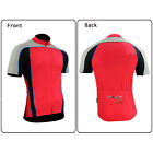 Men's short Sleeve Cycling Jersey Bike Bicycle Outdoor Shirts Red Color L XXL