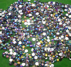 Diy 3mm 4mm lot color mix AB Crystal Multiple facets Resin Flat Back Rhinestone