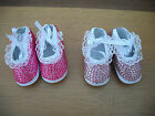 DOLL SHOES 100mm SUITABLE FOR REBORNS ASSORTED COLOURS