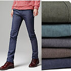 jmn0401 SALE! Brushing inside denim blend spandex slim slacks