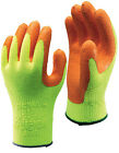 10 Pairs of SHOWA 317 High Vis Grip Gloves - Latex Palm Coated - All Sizes