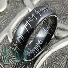6mm Black Tungsten Lord The Ring Mens Womens Wedding Band Jewelry Gift Size 6-13