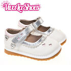 Girls Infant Toddler - Leather Squeaky Shoes - White Silver