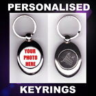 TROLLEY TOKEN KEYRING PERSONALISED CUSTOM PHOTO PROMOTIONAL BUSINESS  LOGO GIFT