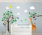 XL Naught Monkey Giraffe Tree Wall Quote Wall Stickers Vinyl Decor Decals Home