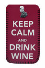 Drink Wine PHONE CASE POUCH Fits Samsung Galaxy s2, s3, s3mini,s4 & s4mini