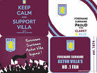 Official Aston Villa FC Personalised Computer Mouse Mat Any Name Choose Style