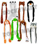 Plush Animal Hat Paw Mitten Scarf Earmuff Wolf Monkey Panda Penguin Tiger RM1300