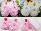 New Non-Slip Newborn Shoes Baby Toddler Shoes+Beautiful Lace For Princess Girls