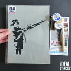 Banksy Stencil Boy Firing Rifle Gun Reusable Art Craft Wall Decor Printing Paint