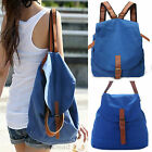 Womens Girls Vintage Canvas Backpack Leisure Bag School Bookbag Travel Rucksack