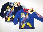 Kids Long Sleeve Character Top Boys Printed Fireman Sam Shirts Size 1-6Years