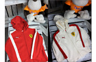 New FERRARI Kids Long Sleeve Hoodie Top in RED or IVORY