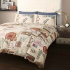 AROUND THE WORLD STAMPS DESIGN SINGLE AND DOUBLE DUVET SETS
