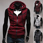 Hot Men's Zip Up Waistcoat Vest Hoodies Hooded Jacket Coat 3 Color Cool