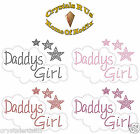 DADDY GIRL BUBLE IRON-ON HOTFIX DIAMONTE GEM BLING DIY KID PARTY TSHIRT APPLIQUE