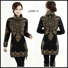 Women's Wool / Cashmere  EXQUISITE STYLE SWEATER DRESS / LONG SLEEVE SIZE M-XXL