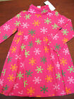 NWT GYMBOREE Cheery All the Way Pink Snowflake Turtleneck Dress Sz 5 or 6